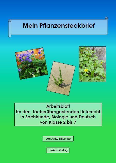 Mein Pflanzen-Steckbrief - criAvis-Verlag
