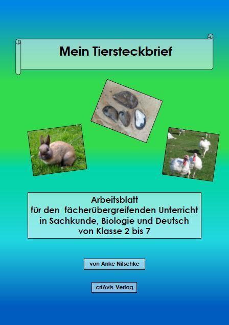 Mein Tier-Steckbrief - criAvis-Verlag