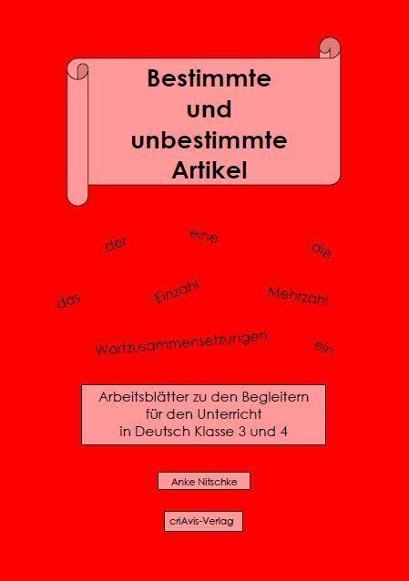 Bestimmte und unbestimmte Artikel - criAvis-Verlag