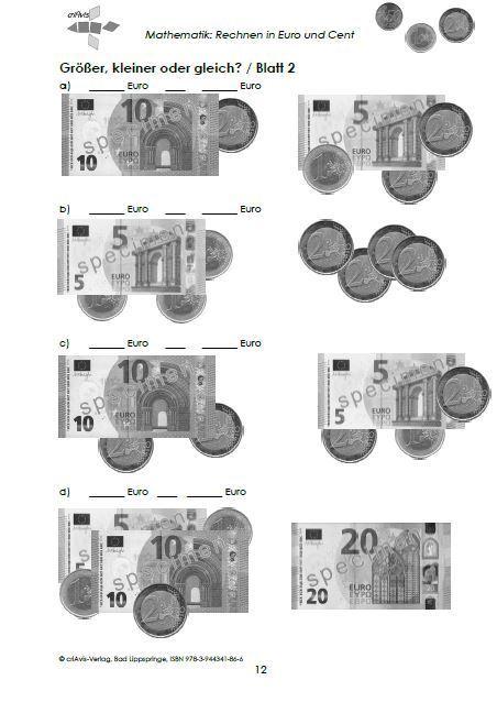 Rechnen In Euro Und Cent 2a Buch Criavis Verlag